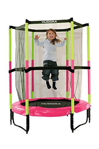 Hudora-65609-Le-trampoline-Joey-Jump-30-rose-de-140-cm-de-diamtre-0