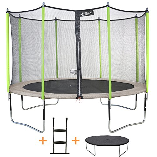achat kangui trampoline de jardin 426 cm filet de s curit chelle. Black Bedroom Furniture Sets. Home Design Ideas