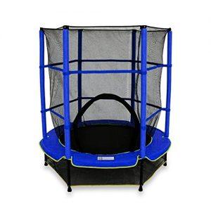 We-R-Sports-Trampoline-avec-filet-de-scurit-Enfant-Bleu-137-cm-0