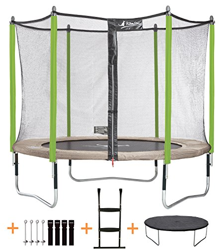 achat kangui trampoline de jardin 305 cm filet de. Black Bedroom Furniture Sets. Home Design Ideas