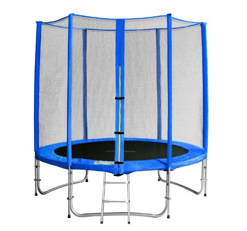 achat sixbros sixjump 1 85 m trampoline de jardin bleu filet de s curit. Black Bedroom Furniture Sets. Home Design Ideas