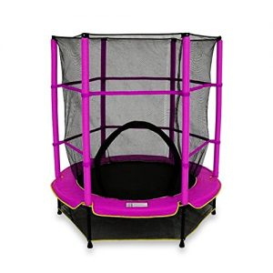 We-R-Sports-Trampoline-avec-filet-de-scurit-Enfant-Rose-137-cm-0