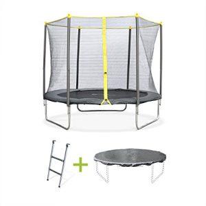 Alices-Garden-Trampoline-rond-de-250-cm-de-diamtre-avec-son-filet-de-scurit-son-chelle-et-sa-bche-de-protection-Springbok-250cm-Normes-trampoline-certifi-par-Intertek-0