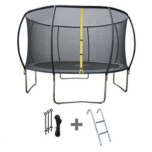 Pack-Trampoline-400cm-gris-BALMORAL-avec-filet-de-protection-chelle-et-kit-dancrage-0