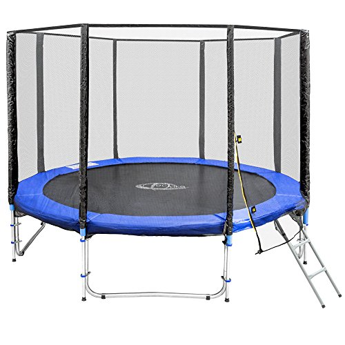 achat tectake trampoline de jardin set complet avec filet de s curit et chelle. Black Bedroom Furniture Sets. Home Design Ideas