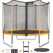 Kangui-Trampoline-de-jardin-JUMPI-avec-filet-de-scurit-et-accessoires-Couleurs-ZEN-Beige-et-POP-Orange-0-0