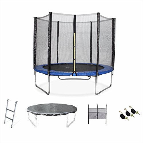 Alices-Garden-Trampoline-rond–250cm-filet-chelle-bche-de-protection-filet-de-rangement-pour-chaussures-kit-dancrage-Pluton-XXL-0