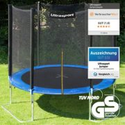 Ultrasport-Trampoline-de-jardin-Jumper-set-complet-pour-trampoline-avec-tapis-de-saut-filet-de-scurit-barres-du-filet-rembourres-et-revtement-pour-les-bords-251-cm-Blau-0-0