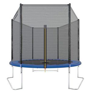 Ultrasport-Trampoline-de-jardin-Jumper-set-complet-pour-trampoline-avec-tapis-de-saut-filet-de-scurit-barres-du-filet-rembourres-et-revtement-pour-les-bords-251-cm-Blau-0