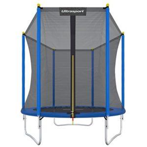 Ultrasport-Trampoline-de-jardin-Uni-Jump-trampoline-pour-enfant-set-complet-pour-trampoline-avec-tapis-de-saut-filet-de-scurit-barres-du-filet-rembourresrevtement-pour-les-bords-183-cm-0
