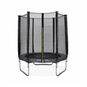 Alices-Garden-Trampoline-rond--180cm-gris-avec-son-filet-de-protection-Cassiope-Trampoline-de-jardin-2m-Qualit-PRO-Normes-EU-0
