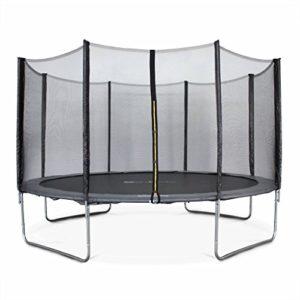 Alices-Garden-Trampoline-rond--400cm-gris-avec-son-filet-de-protection-Mercure-Trampoline-de-jardin-400-cm-4m-Qualit-PRO-Normes-EU-0