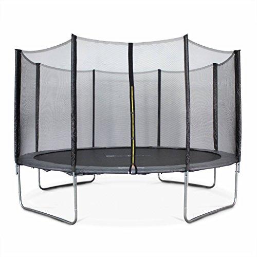 Alices-Garden-Trampoline-rond–400cm-gris-avec-son-filet-de-protection-Mercure-Trampoline-de-jardin-400-cm-4m-Qualit-PRO-Normes-EU-0