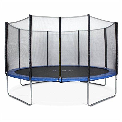 achat alice s garden trampoline rond 430cm bleu avec son filet de. Black Bedroom Furniture Sets. Home Design Ideas