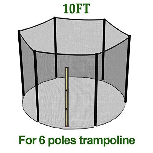 Greenbay-10FT-Filet-de-scurit-de-rechange-pour-trampoline-de-jardin-rsistant-aux-UV–305cm-6-barres-Filet-de-protection-seulement-Sans-armatures-ni-coussin-0