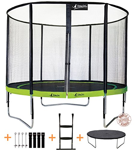 Kangui-Trampoline-de-jardin-305-cm-filet-de-scurit-chelle-bche-de-protection-kit-dancrage-PUNCHI-ALOE-0