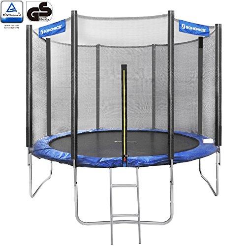 Songmics-244-305-366-cm-Trampoline-de-Jardin-Avec-Filet-Echelle-Coussin-de-Protection-Dimensions–choisir-305cm-0
