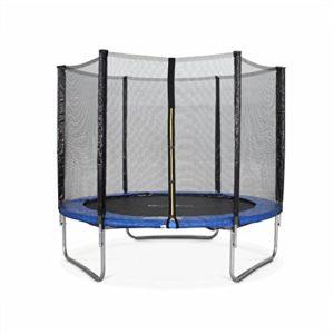 Alices-Garden-Trampoline-Rond--250cm-Bleu-avec-Son-Filet-de-Protection-Pluton-Trampoline-de-Jardin-25m-Qualit-Pro-Normes-EU-0