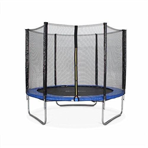 Alices-Garden-Trampoline-Rond–250cm-Bleu-avec-Son-Filet-de-Protection-Pluton-Trampoline-de-Jardin-25m-Qualit-Pro-Normes-EU-0