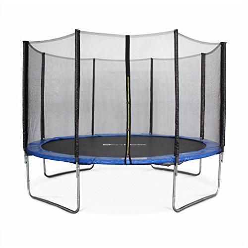 Alices-Garden-Trampoline-Rond–370cm-Bleu-avec-Son-Filet-de-Protection-Saturne-Trampoline-de-Jardin-370-cm-3m-Qualit-Pro-Normes-EU-0