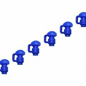 Upper-Bounce-Ensemble-de-Pinces--Talon-de-Filetage-Lot-de-8-pour-Trampoline--Bleu-38-cm-0