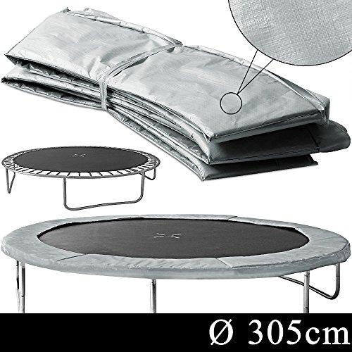 Markenartikel-Coussin-de-Protection-Rond-pour-Trampoline-Gris-Ressort-305cm-Accessoires-Pices-Dtaches-Rebord-de-Scurit-0