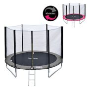 Happy-Garden-Pack-Premium-Trampoline-245cm-rversible-GrisRose-Canberra-Filet-chelle-bche-et-kit-dancrage-0-0