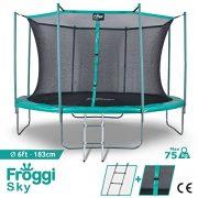 FROGGI-dextrieur-SKY-183cm-Norme-CE-Trampoline-SS-0603HI-Bleu-0