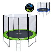 Happy-Garden-Pack-Premium-Trampoline-305cm-rversible-VertBleu-ADELADE-Filet-chelle-bche-et-kit-dancrage-0-0