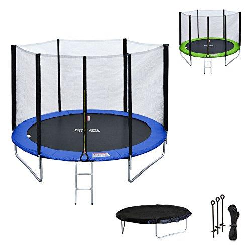 Happy-Garden-Pack-Premium-Trampoline-rversible-180cm-Bleu-et-Vert-Cairns-avec-Filet-de-Protection-chelle-bche-et-kit-dancrage-0