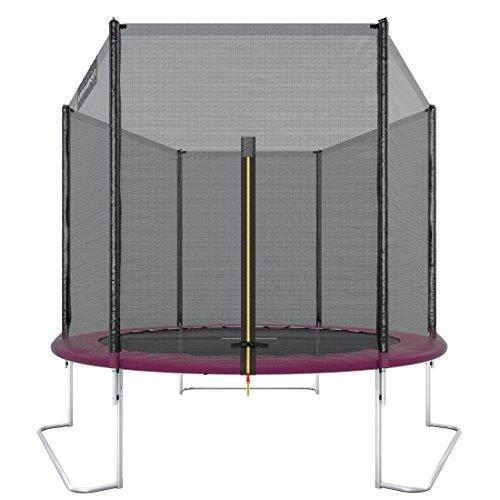 Ultrasport-Outdoor-Trampoline-de-Jardin-Jumper-Set-pour-Trampoline-avec-Tapis-de-saut-Filet-de-scurit-Barres-du-filet-Rembourres-et-Revtement-pour-les-Bords-jusqu-120kg-Ros–251-cm-0