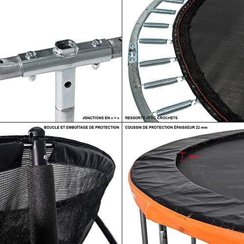 GREADEN-Trampoline-extrieur-Rond-Freestyle-Orange-430-chelle-Pack-Plus-Fitness-Jardin-Trampoline–427cm-0-1
