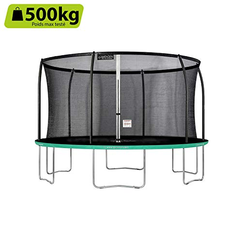 GREADEN-Trampoline-extrieur-Rond-Freestyle-Vert-430-Fitness-Jardin–427cm-Normes-EU-Design-Exclusif-Ultra-scuris-0