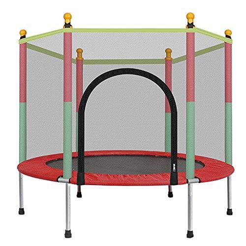 LKFSNGB-Mini-Trampoline-pour-Enfants-Trampoline-de-Jardin-avec-Filet-de-Protection-Couverture-impermable-en-PVC-Petit-Trampoline-intrieur-et-extrieur-de-140-cm-0