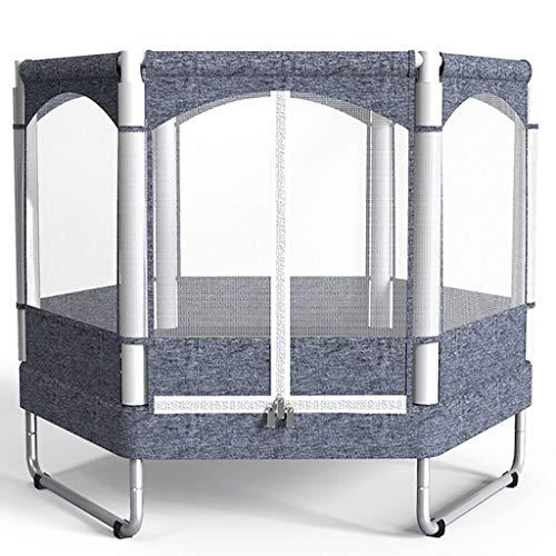 HYJBGGH-Trampolines-dextrieur-Trampoline-Fitness-Hexagonal-Pliable-avec-Trampolines-Ferms-pour-Enfants-Mini-Trampoline-pour-Exercice-De-Yoga-De-Jardin-Intrieur-Intrieur-Size-128×128-cm-0