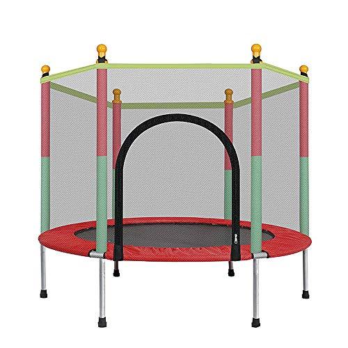 SHEHUIREN-5-FT-Mini-Trampoline-pour-Les-Enfants-Trampoline-De-Jardin-avec-Petit-Filet-Trampoline-De-Scurit-pour-Les-Jouets–Lintrieur-Et-Lextrieur-Peut-Supporter-100-Kg-140X122cm-0