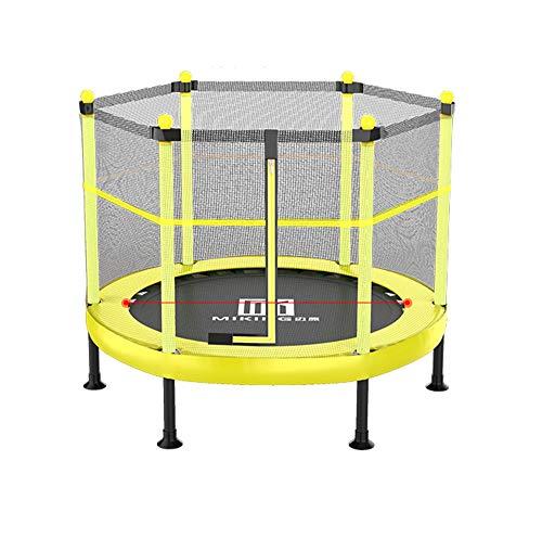 Skiout-Pliable-Trampoline-de-Jardin-Jumper-Trampolines-pour-intrieurextrieur-avec-Tapis-de-Saut-et-Filet-de-Scuritpour-lexercice-Arobie–la-MaisonCapacit-de-Charge-450-kgYellow48inch-0