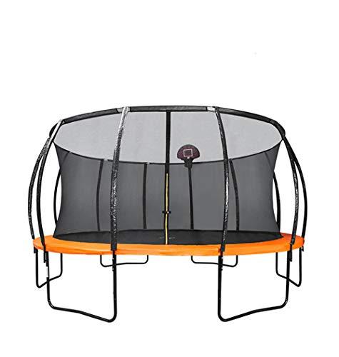 Skiout-Trampoline-de-Jardin-Jumper-Trampolines-pour-intrieurextrieur-avec-Tapis-de-Saut-et-Filet-de-Scuritpour-lexercice-Arobie–la-MaisonCapacit-de-Charge-450-kg-0