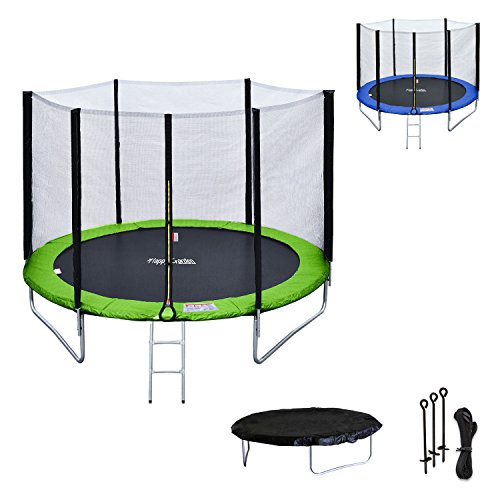Happy-Garden-Pack-Premium-Trampoline-rversible-180cm-Vert-et-Bleu-Cairns-avec-Filet-de-Protection-chelle-bche-et-kit-dancrage-0