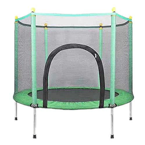 Intrieur-Jardin-Extrieur-Enfants-Trampolines-3-12-Ans-Trampoline-Enfant-avec-Enclosure-Net-Tapis-De-Saut-Et-La-Scurit-Rembourrage-Cover-Printemps-Meilleure-Bounce-Bounce-Basketball-JumpBleu-0