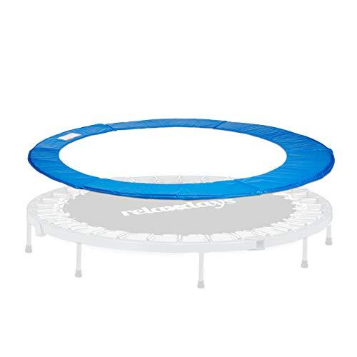 Relaxdays-bleu-Cache-Ressorts-Coussin-Protection-Accessoire-Trampoline-PVC-Largeur-30-cm-Diamtre-244-cm-Mixte-0