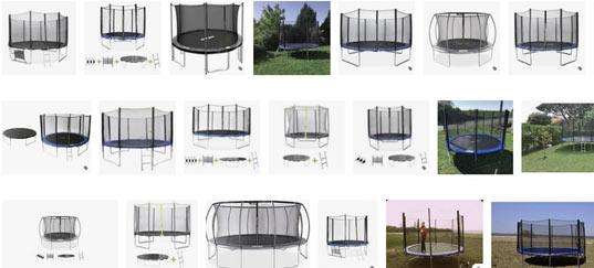 exemples de trampolines de jardin